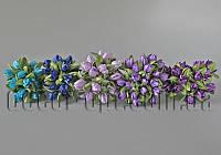 Букет из тканевых бутонов цветов 3см 20 шт