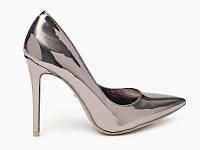 Серебряные женские туфли модель HUALING