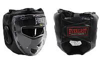 Шлем для единоборств с прозрачной маской PU ELAST ZB-5209E-BK (черный, р-р M-XL)