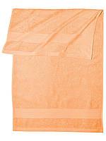 Банное махровое полотенце  (Светло оранжевый)
