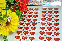 Эпоксидные наклейки сердечки красные