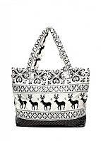 Стеганые сумочки с оленями и снежинками