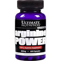 Аргинин Ultimate Nutrition Arginine power 800 mg 100 капс