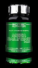 Витаминные и минеральные комплексы Scitec Nutrition Mega daily one plus 60 capsule