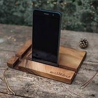 Деревянная подставка для смартфона или планшета Прямоугольник