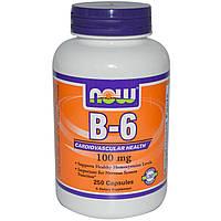 Витамин Б NOW B-6 100 mg 100 капс