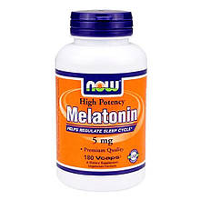 Мелатонин, гормон сна NOW Melatonin 5 mg 180 капс