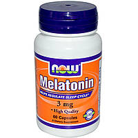 Мелатонин, гормон сна NOW Melatonin 3 mg 60 капс