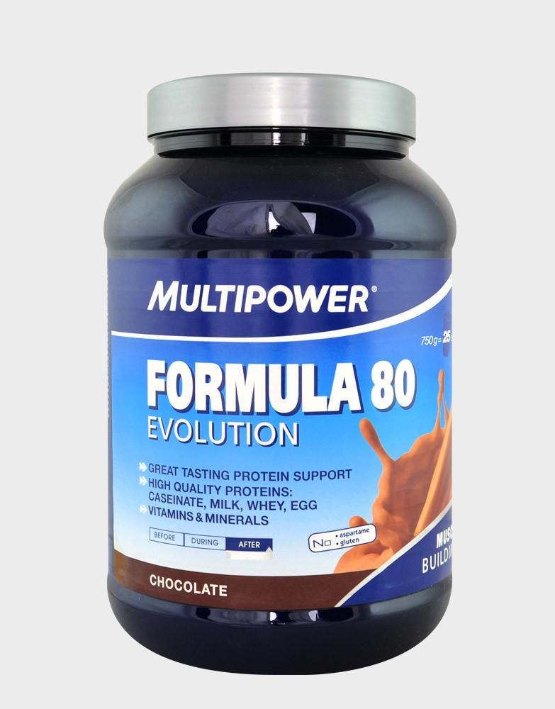 Протеины Многокомпонентные Multipower Formula 80 Evolution 750г банка - манго