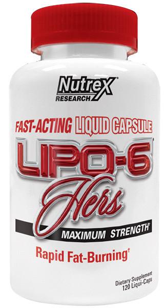 Жиросжигатели, Липотропики Nutrex Lipo 6 hers 120 капс