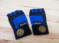 Перчатки спортивные, для зала Lucky-Sport Перчатки атлетические комбинированные (без пальцев)