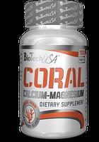 Минеральные комплексы BioTech Coral calcium-magnesium 100 таблеток