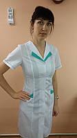 Женский медицинский халат на пуговицах больших размеров