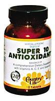 Витаминные и минеральные комплексы Country life Super 10 antioxidant (супер 10 антиоксидант)