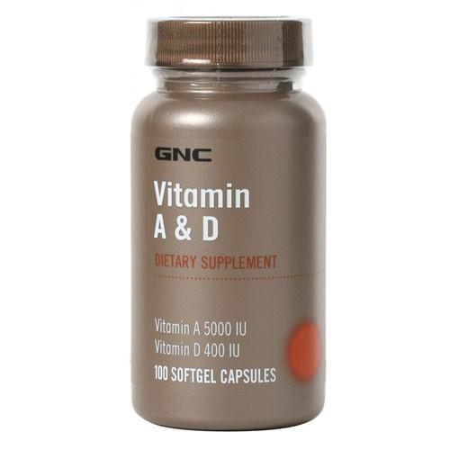 Витаминные и минеральные комплексы GNC Vitamin A D  100 softgel