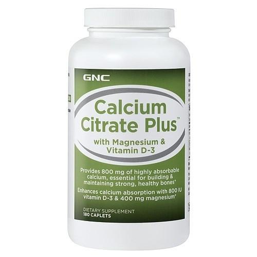 Витаминные и минеральные комплексы GNC CALCIUM CITRATE PLUS 180 caps