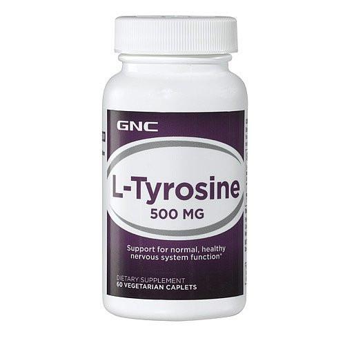 Тирозин, L-Tyrosine GNC L-TYROSINE 500 60 tab
