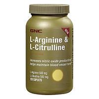 Аргинин GNC L-Arginine  L-Citrulline  120 cap