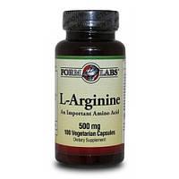 Аргинин FORM LABS L-Arginine 500 мг 100 cap