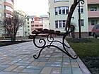 Лавка садово-парковая со спинкой 1,5 м. №2, фото 2