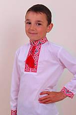 Вишиванка для хлопчика вишита хрестиком, фото 2