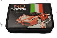 """Пенал на змейке 3D,""""Ferrari"""" 1 отделение,2 отворота б/наполнения Lider"""