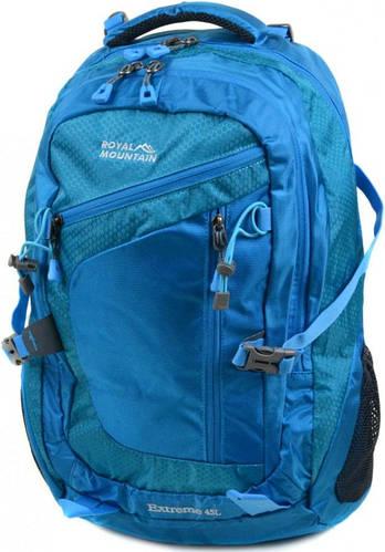 Удобный голубой туристический рюкзак Royal Mountain 8431 l-blue, 45 л.