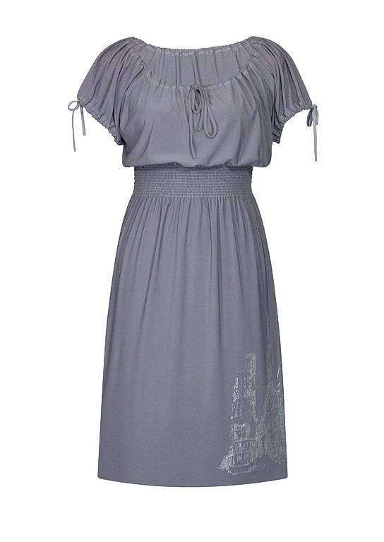 Летнее платье на резинке Париж