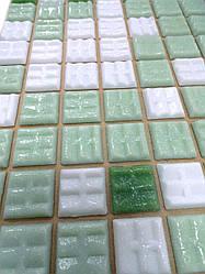 Мозаика Vivacer 327x327 GLmix200 микс зеленый (на бумаге)