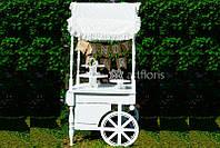 Тележка для Кэнди Бара напрокат, декор для candy bar на свадьбу