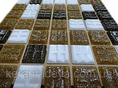 Мозаика Vivacer 327x327 GLmix300 микс коричневый (на бумаге)