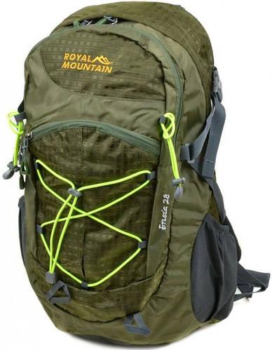 Зеленый туристический рюкзак Royal Mountain 8343-22 dark-green, 28 л.