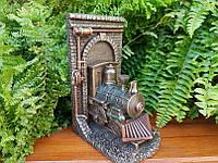 Коллекционная статуэтка Veronese Локомотив (Паровоз) на выходе из туннеля Стимпанк 76601A4