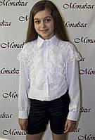 Белая блузка для девочки  Монализа BL-04 р.116 белый