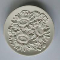Подсолнухи и маки тарелка для росписи