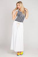 Платье морячка в пол на кулиске 8043 (ВИВ)