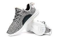 Кроссовки Adidas Yeezy Boost 350 Gray Серые мужские реплика