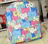 """Молодежный рюкзак """"Милые котики"""", фото 1"""