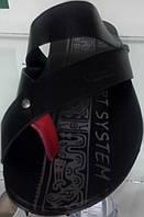 Шлепанцы мужские Broni Л24-01 черные, кожаные