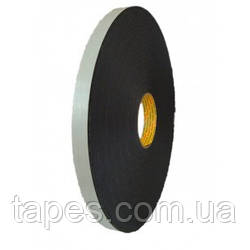 Высокопрочная лента 3М 9546 для долговечных соединений , черная, 6мм х 66м х 1,15мм, вспененный полиуретан (за