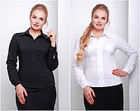 """Женская классическая блуза-рубашка """"Марта"""" батал"""
