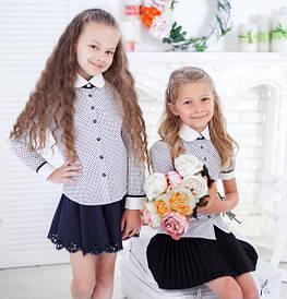 Школьные блузки 2018