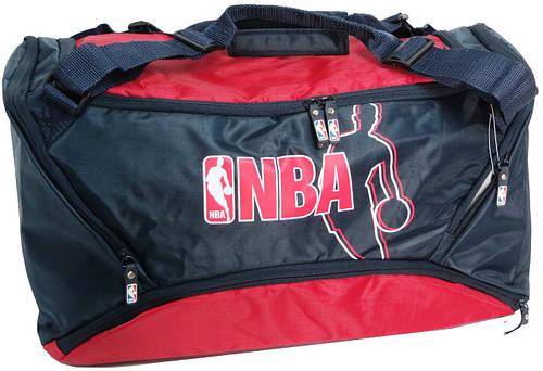 Спортивная сумка для тренировок 35 л. Paso NBA-240 Цвет: синий с красным
