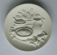 Хлеб-соль 3D тарелка для росписи
