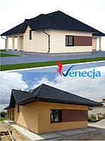 Реализация проекта с использованием модульной металлочерепицы #Venecja от #BUDMAT. г. Кривой Рог, Украина.