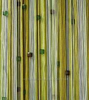 Шторы  нити  радуга со  стеклярусом   №125