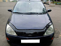 Дефлектор капота (мухобойка) Ford Focus 1998-2005 /длинный