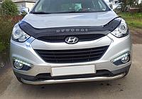 Дефлектор капота (мухобойка) Hyundai ix35 2010-, фото 1