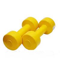 Гантеля для фитнеса Титан 1 кг обрезиненная