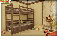 "Ліжко дитяче двох'ярусне дерев'яне Соня MebiGrand / Кровать двухъярусная детская деревянная ""Соня"" MebiGrand, фото 1"